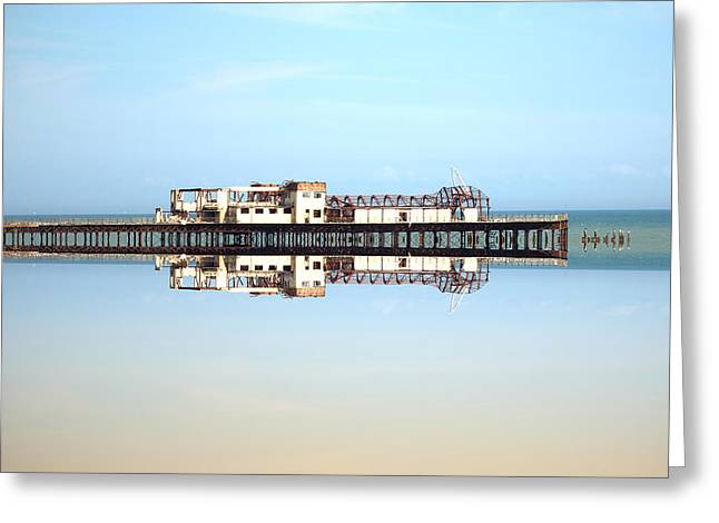 Pier Prints Greeting Cards - Destroyed Greeting Card by Sharon Lisa Clarke