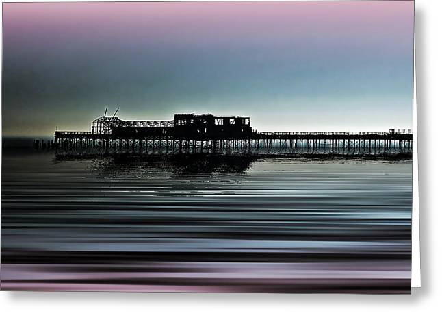 Pier Prints Greeting Cards - Destructive Beauty 2 Greeting Card by Sharon Lisa Clarke