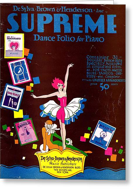 Desylva Brown And Henderson Supreme Dance Folio Greeting Card by Mel Thompson