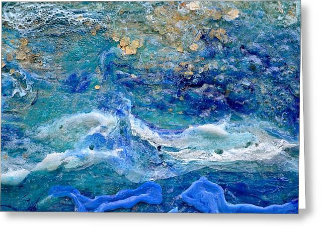 Valluzzi Greeting Cards - Detail 4 from Rhapsody on the Sea Greeting Card by Regina Valluzzi