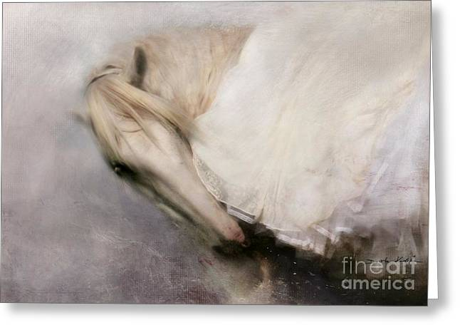 Equestrian Digital Art Greeting Cards - Detail Greeting Card by Dorota Kudyba