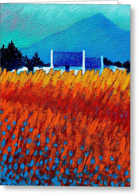 Field Framed Prints Greeting Cards - Detail from Golden Wheat Field Greeting Card by John  Nolan