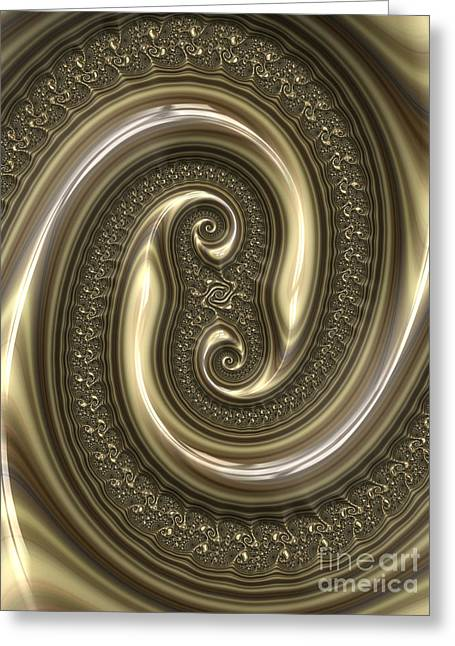 Embossed. Greeting Cards - Detail from Repousse in Bronze Greeting Card by John Edwards