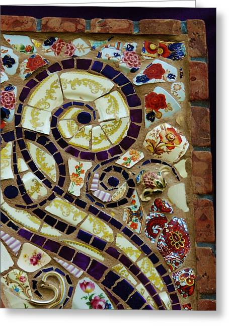 Detail Ceramics Greeting Cards - Detail Mosaics Greeting Card by Charles Lucas