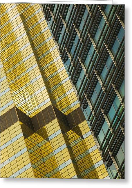 Pudong Greeting Cards - Detail Of A Building, Pudong, Shanghai Greeting Card by Panoramic Images