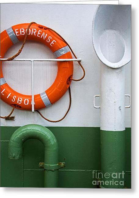 Respirator Greeting Cards - Detail of a ferry Eborense Greeting Card by Jose Elias - Sofia Pereira