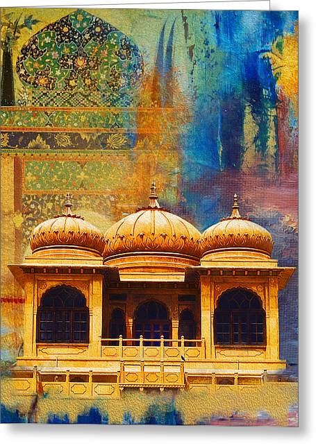 Akbar Shahjahan Greeting Cards - Detail of Mohatta Palace Greeting Card by Catf