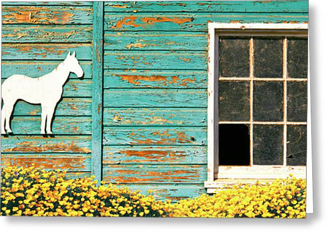 Detail Of Old Horse Barn, Escondido Greeting Card by Panoramic Images