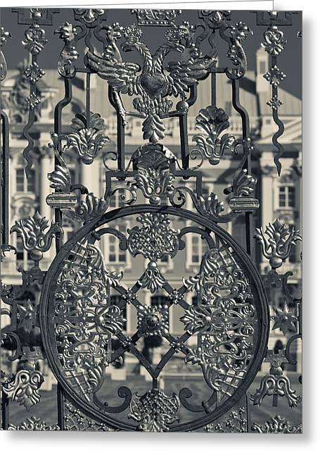 Catherine White Greeting Cards - Detail Of The Palace Gate, Catherine Greeting Card by Panoramic Images