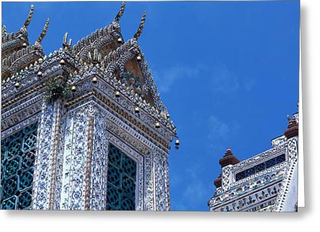 Decorate Greeting Cards - Detail Wat Arun Bangkok Thailand Greeting Card by Panoramic Images
