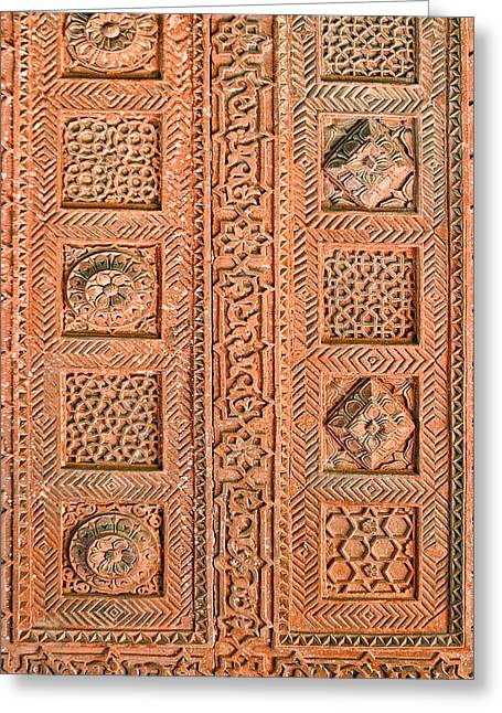 Handwork Greeting Cards - Detailed Carved Ceiling Pattern Greeting Card by Linda Phelps
