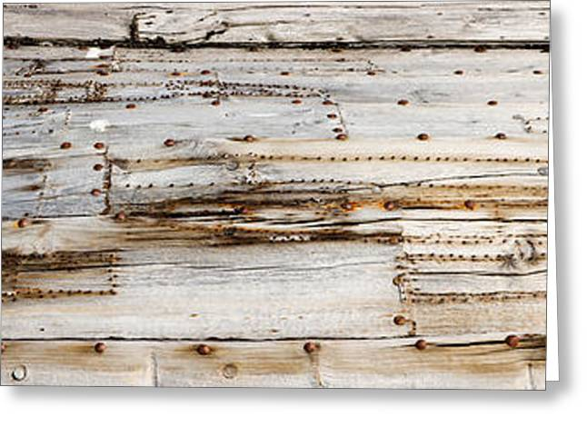 Svalbard Greeting Cards - Details Of An Old Whaling Boat Hull Greeting Card by Panoramic Images