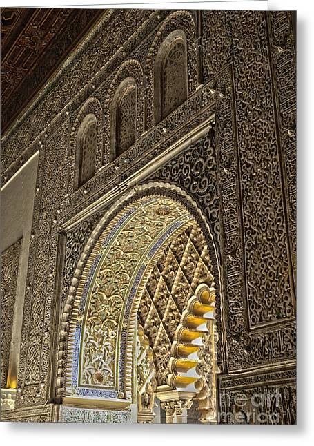 Details Of Moorish Architecture Greeting Card by Patricia Hofmeester