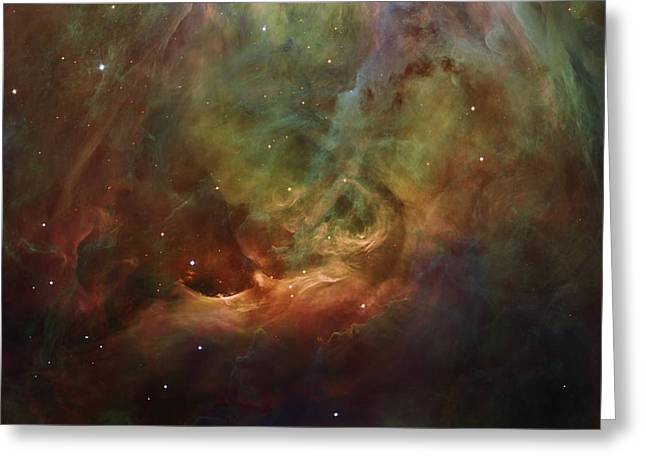 Office Space Greeting Cards - Details of Orion Nebula Greeting Card by Marianna Mills