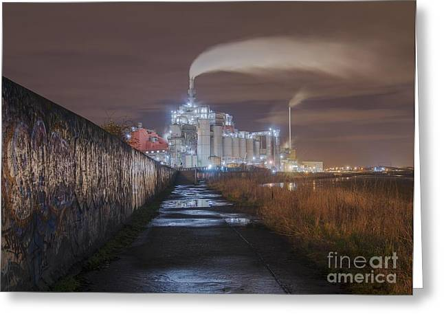 Ghostly Greeting Cards - Detergent Factory Greeting Card by Robert Brook