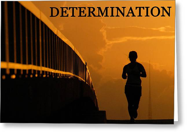 Determination Photographs Greeting Cards - Determination running girl Greeting Card by David Lee Thompson
