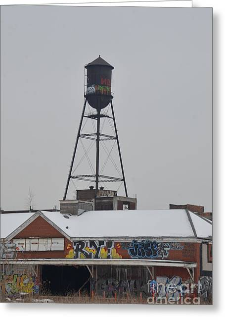 Grocery Store Greeting Cards - Detroit A and P and Water Tower Greeting Card by Randy J Heath