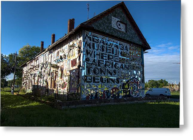 Textile Photographs Greeting Cards - Detroit Africa Town - African Bead Museum #1 Greeting Card by Paul Cannon