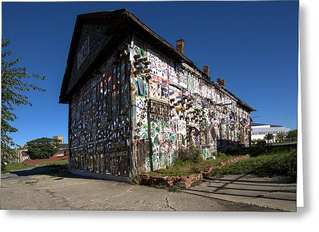 Textile Photographs Greeting Cards - Detroit Africa Town - African Bead Museum #2 Greeting Card by Paul Cannon