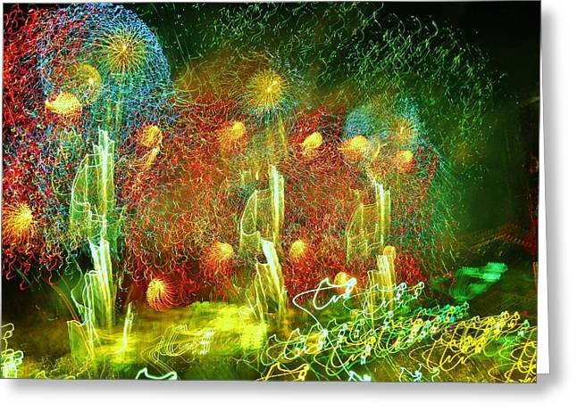4th July Photographs Greeting Cards - Detroit Fireworks 4 Greeting Card by Jennifer McGuire