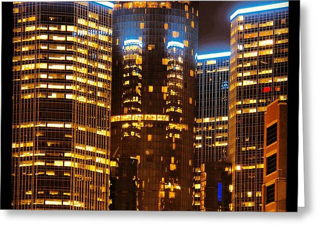 Renaissance Center Greeting Cards - Detroit Gm Center Greeting Card by Rexford L Powell