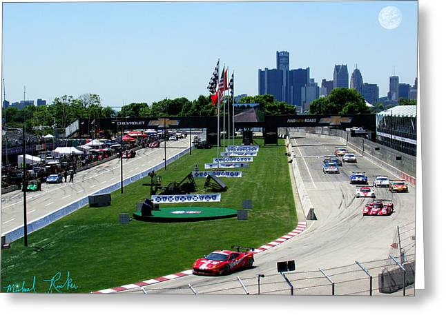 Indy Car Greeting Cards - Detroit Grand Prix 2014 Greeting Card by Michael Rucker