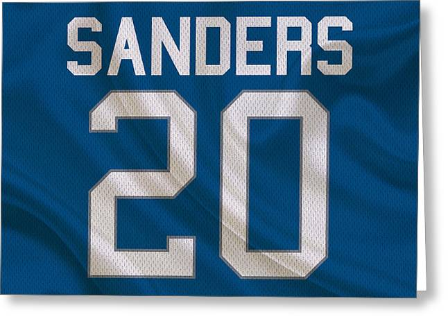 Lions Greeting Cards - Detroit Lions Barry Sanders Greeting Card by Joe Hamilton
