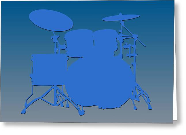 Drum Greeting Cards - Detroit Lions Drum Set Greeting Card by Joe Hamilton