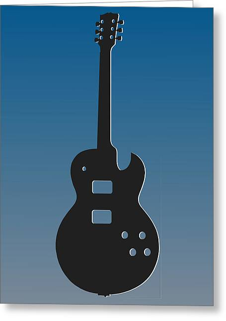 Lions Greeting Cards - Detroit Lions Guitar Greeting Card by Joe Hamilton