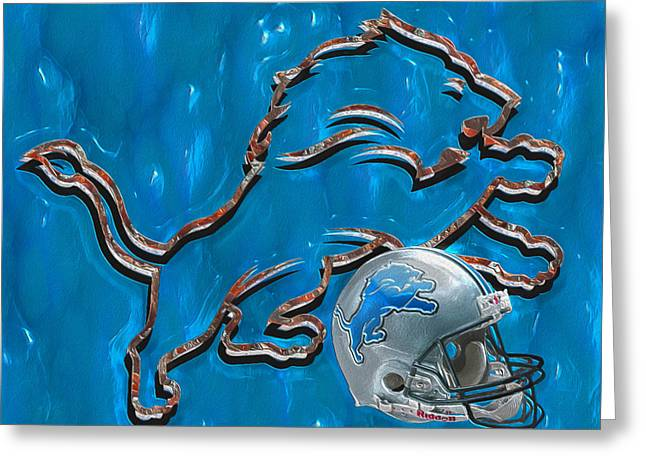 Football Photographs Greeting Cards - Detroit Lions Greeting Card by Jack Zulli