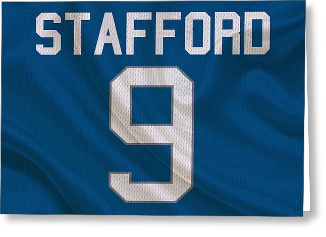 Lions Greeting Cards - Detroit Lions Matt Stafford Greeting Card by Joe Hamilton