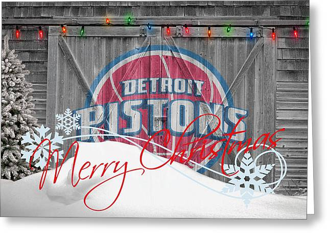 Piston Greeting Cards - Detroit Pistons Greeting Card by Joe Hamilton