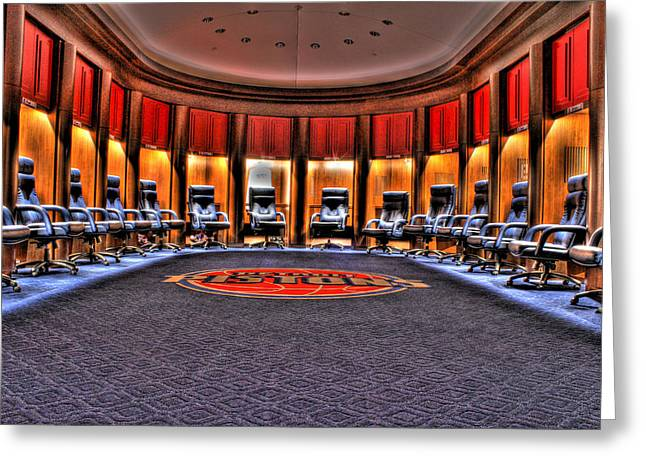 Detroit Pistons Digital Greeting Cards - Detroit Pistons Locker Room Auburn Hills MI Greeting Card by B And G Art