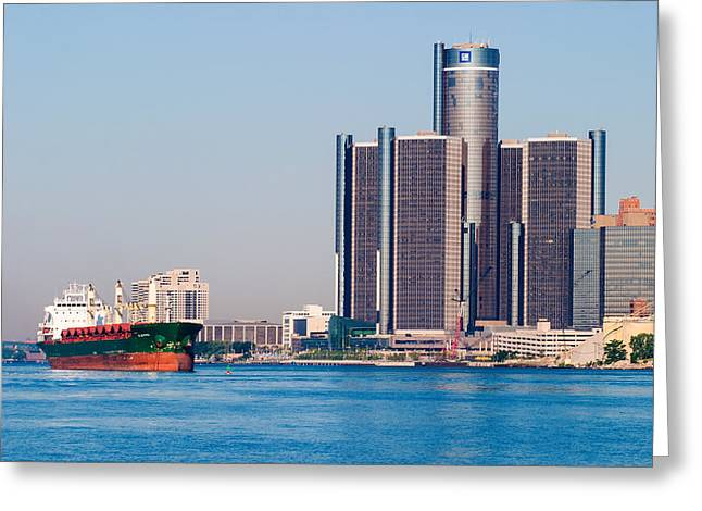 Detroit Renaissance Center Greeting Card by James Marvin Phelps