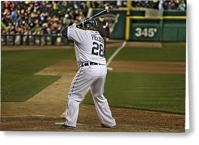 Detroit Tiger Prince Fielder Greeting Card by A And N Art