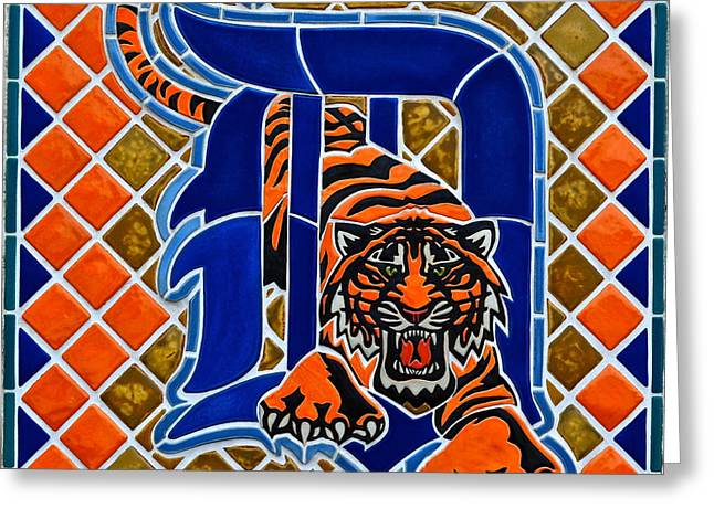 Baseball Stadiums Greeting Cards - Detroit Tigers Greeting Card by Frozen in Time Fine Art Photography