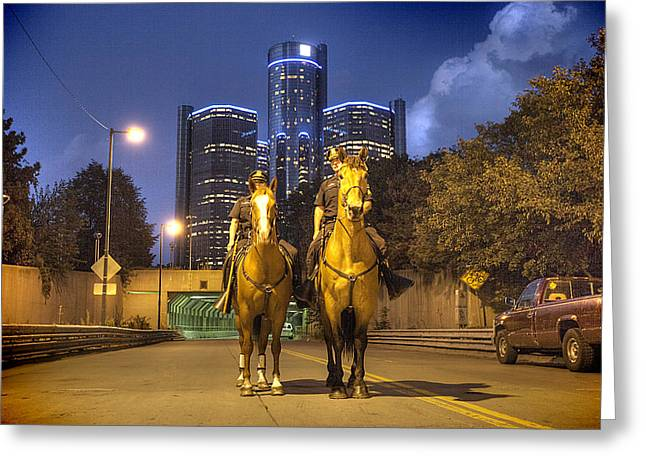 Police Department Greeting Cards - Detroits Finest Detroit MI Greeting Card by B And G Art