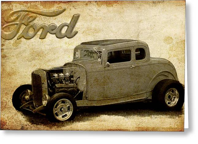 Graffitti Coupe Greeting Cards - Deuce Coupe Greeting Card by Steve McKinzie