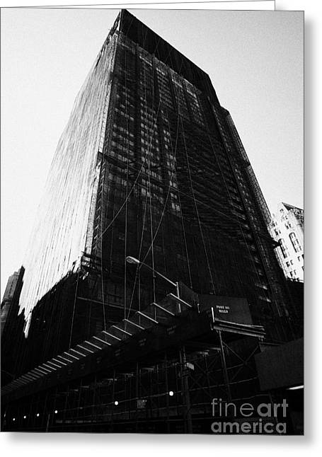 Manhatan Greeting Cards - Deutsche Bank Building Due For Demolition Liberty Street Ground Zero Greeting Card by Joe Fox