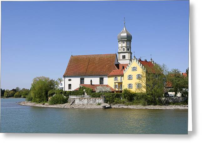 Deutschland Greeting Cards - Deutschland, Bayern, Wasserburg Am Greeting Card by Tips Images