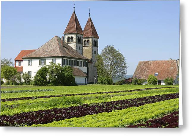 Bauwerk Greeting Cards - Deutschland, Insel Reichenau Am Greeting Card by Tips Images