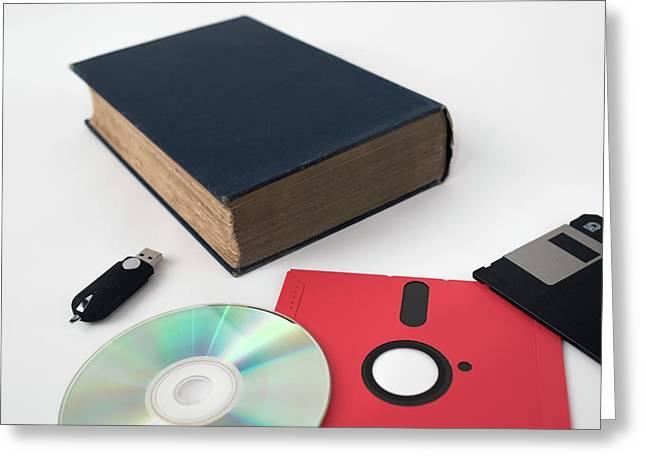 Development Of Data Storage Technology Greeting Card by Robert Brook