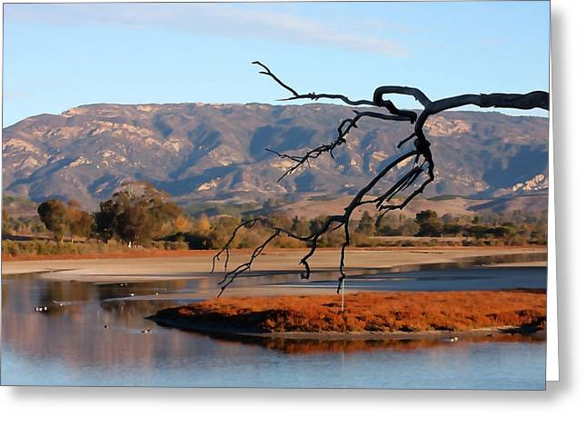 Santa Barbara Art Greeting Cards - Devereux Slough Greeting Card by Art Block Collections