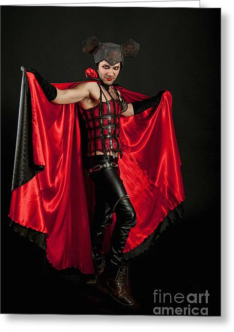 Physical Body Greeting Cards - Devil 1 Greeting Card by Ilan Amihai