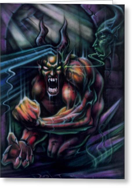 Recently Sold -  - Science Greeting Cards - Devil in My Ear Greeting Card by David Bollt