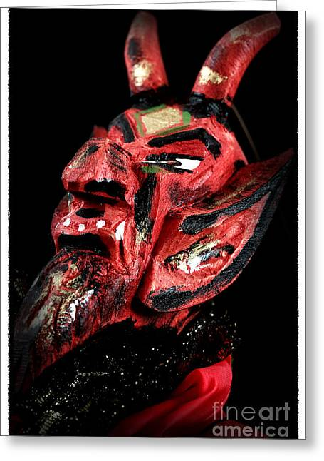 Evil Place Greeting Cards - Devil Greeting Card by John Rizzuto