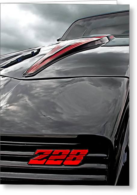 Recently Sold -  - Devils Den Greeting Cards - Devil of a Ride - Camaro Z28 1981 Greeting Card by Gill Billington