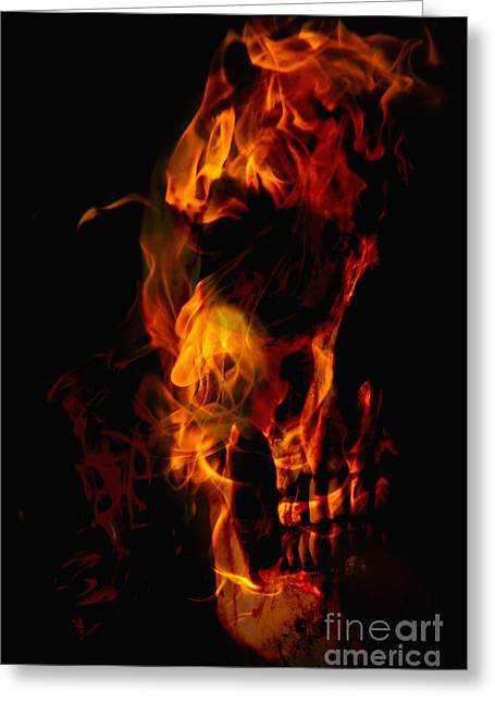 Fiend Greeting Cards - Devil Within Greeting Card by Margie Hurwich