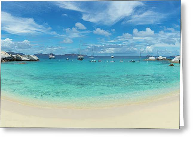 Devils Bay And Beach At The Baths Greeting Card by Panoramic Images