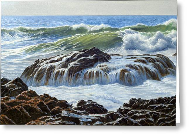 Oregon Coast Greeting Cards - Devils Churn Area-Oregon Coast Greeting Card by Paul Krapf